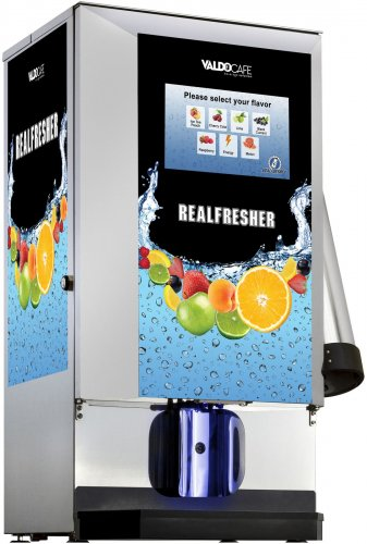 smoothie automat, machine - The machine body provides space for six 5 litre bag-in-box tanks – thus allowing 6 different drinks at the same time